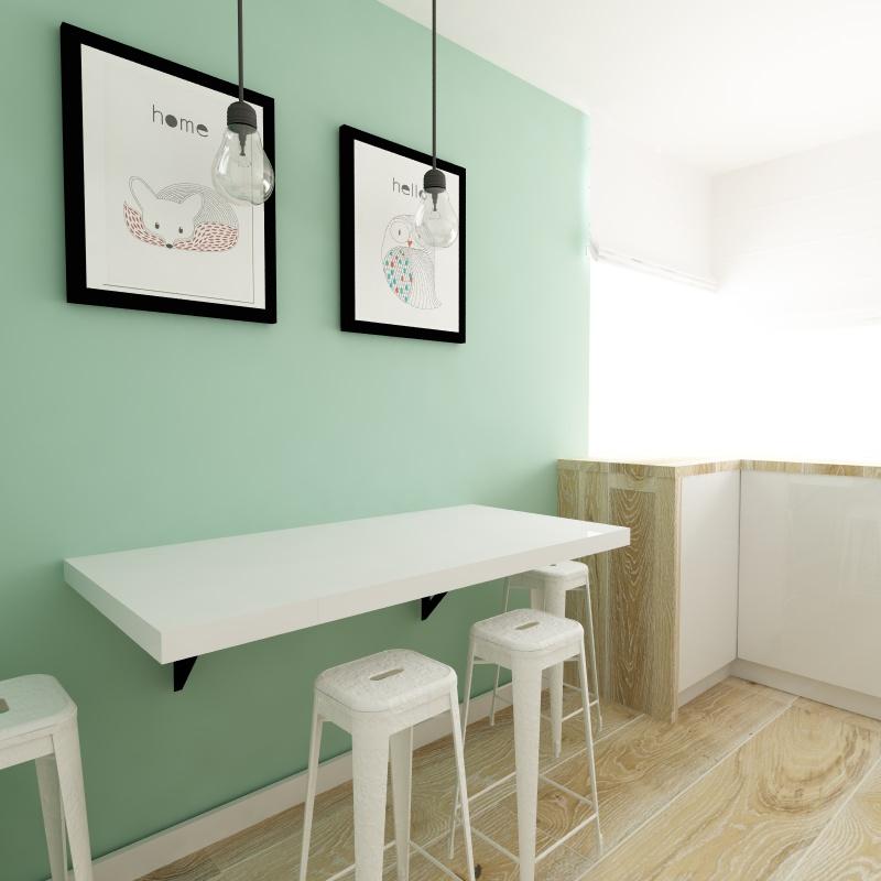 Projekt kuchni nr II (poprawiony)  Makóweczki -> Kuchnia W Kolorze Mietowym