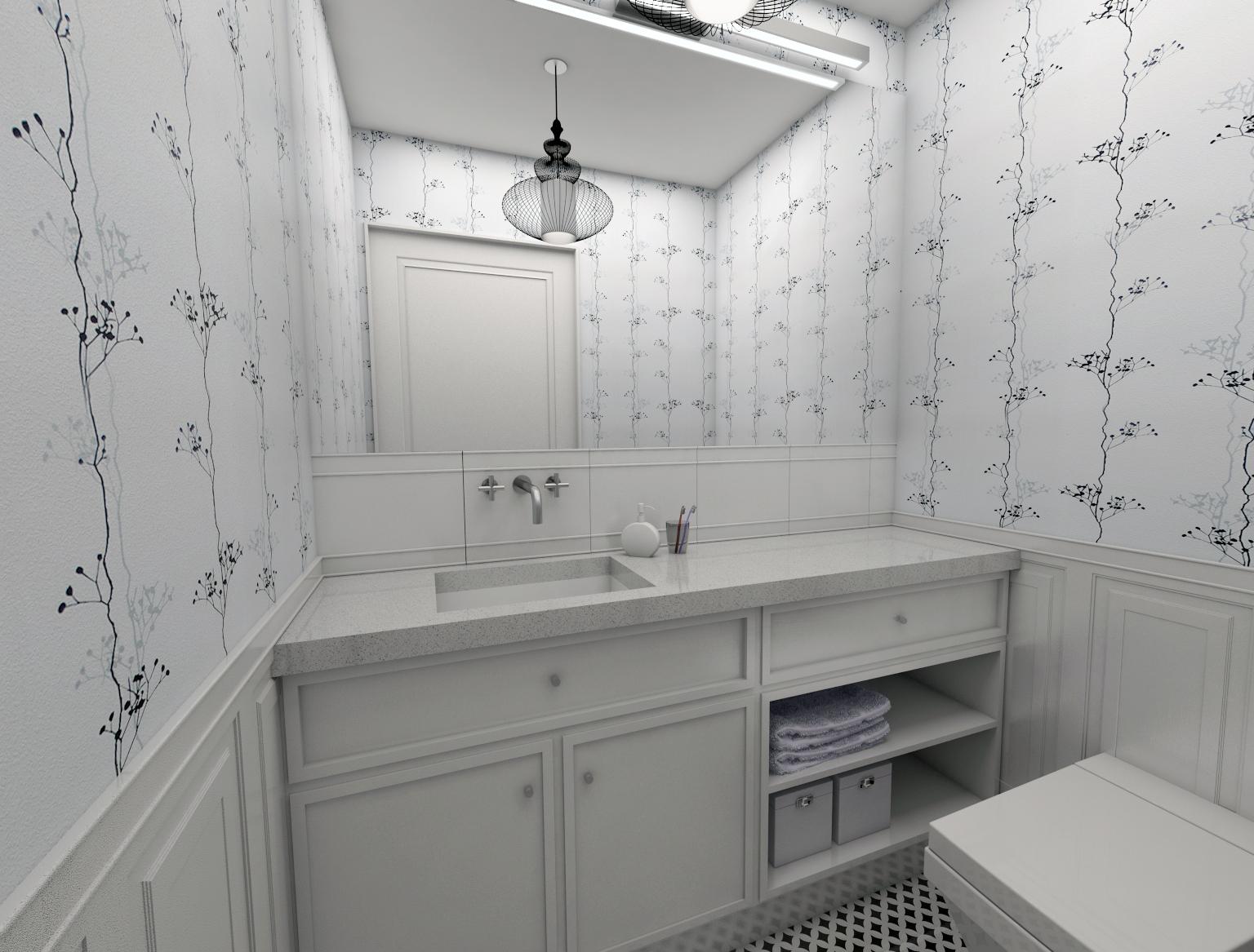Projekt małej łazienki 02