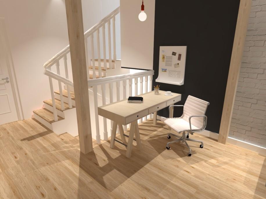 Projekt salonu na piętrze 01