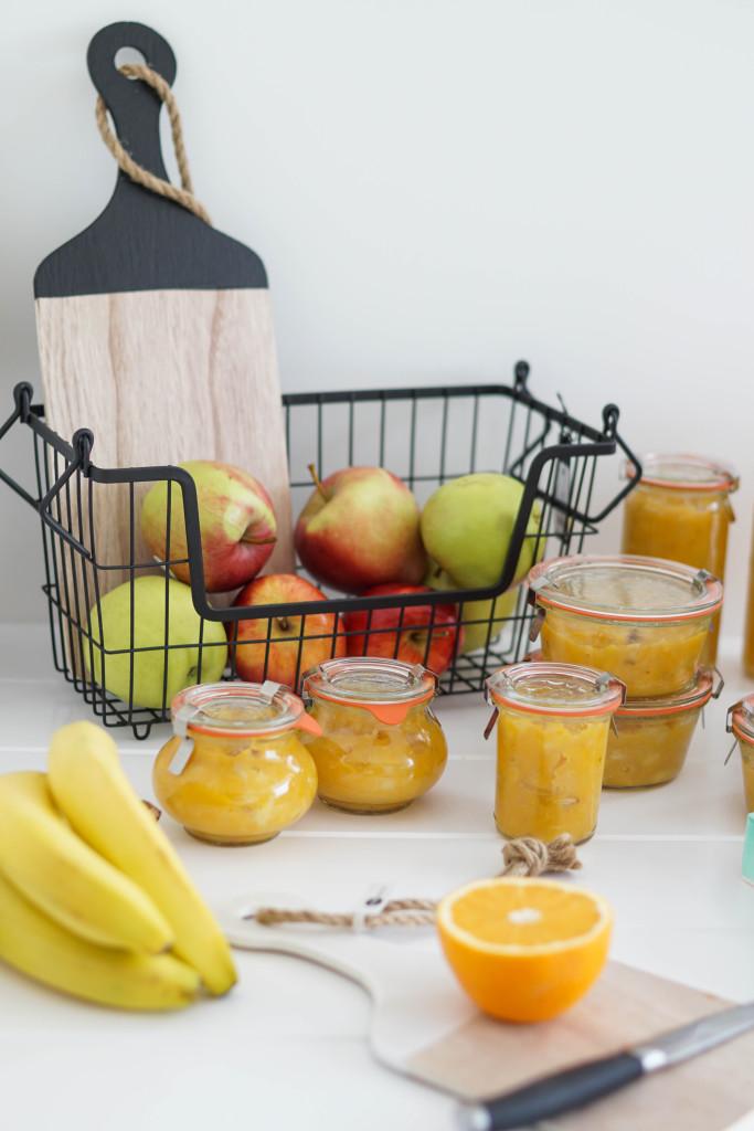 Dżem z dyni z jabłkiem i sokiem z pomarańczy