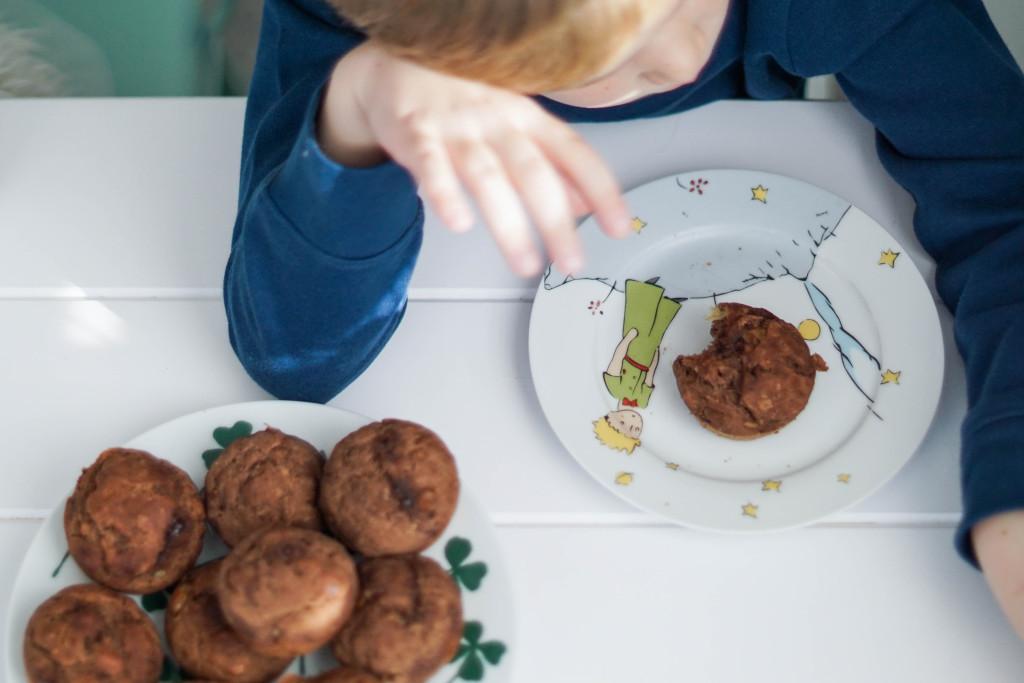 muffinki z bananami, muffiny