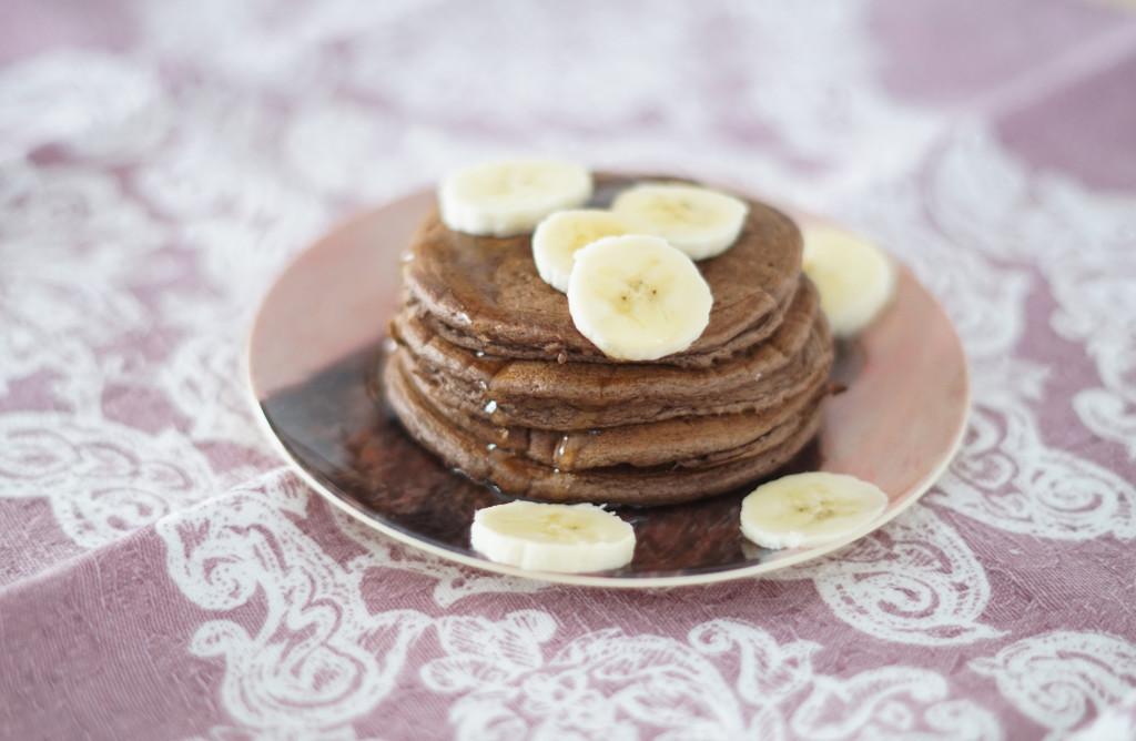 fit placuszki czekoladowe z bananem