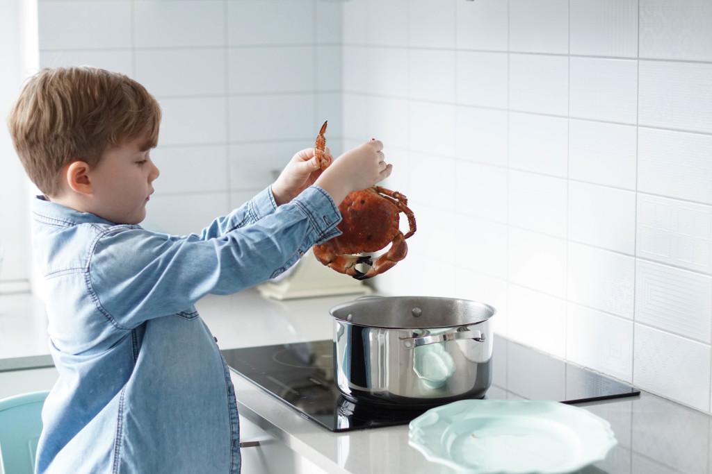 mycie kraba, jak przygotować kraba