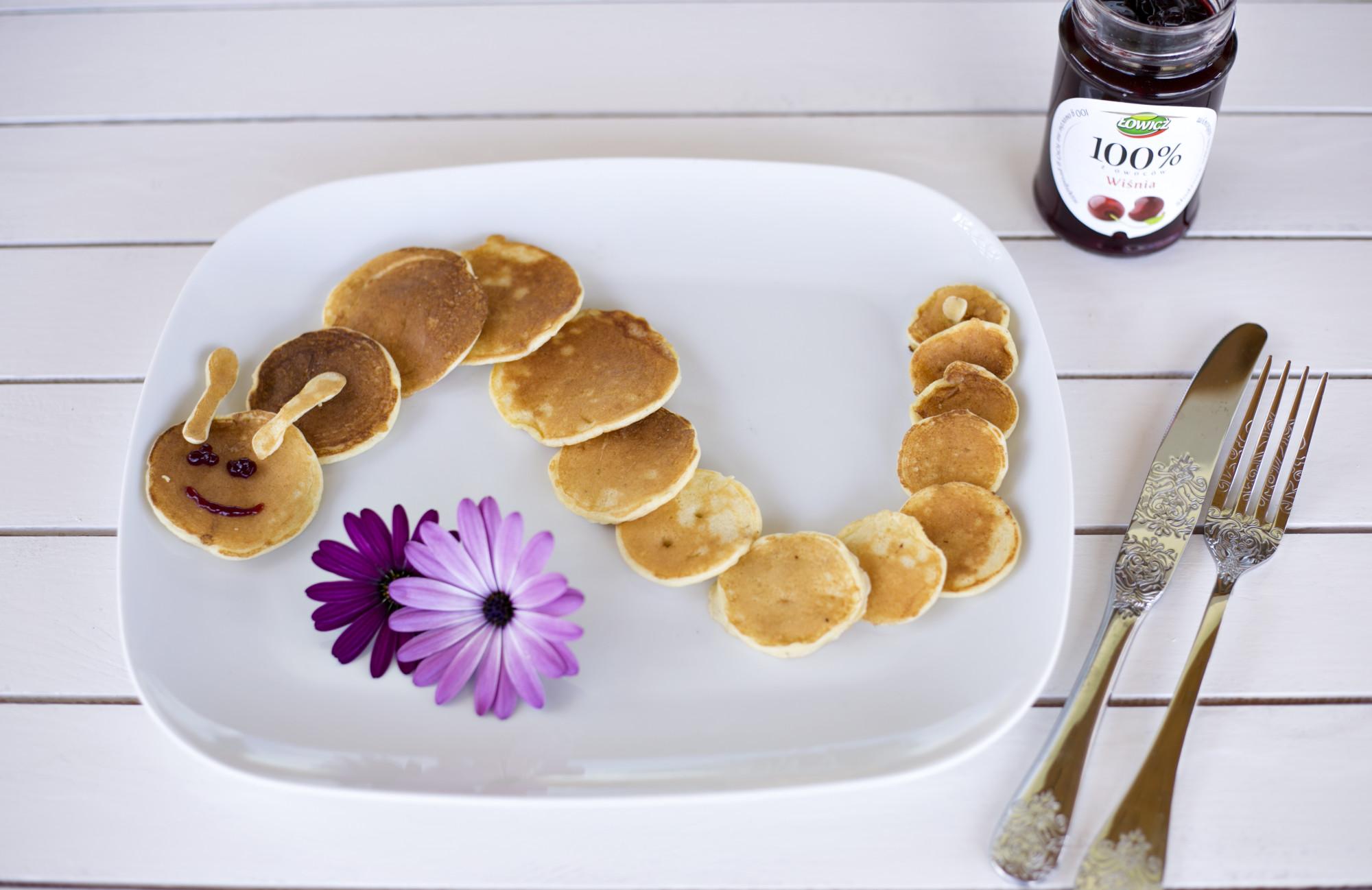 pancakes shapes, łowicz 100% z owoców wiśnia