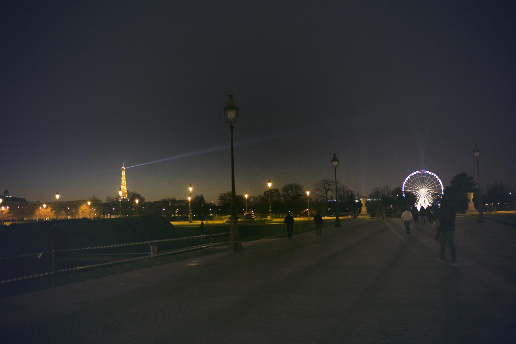 paryż, paris, night