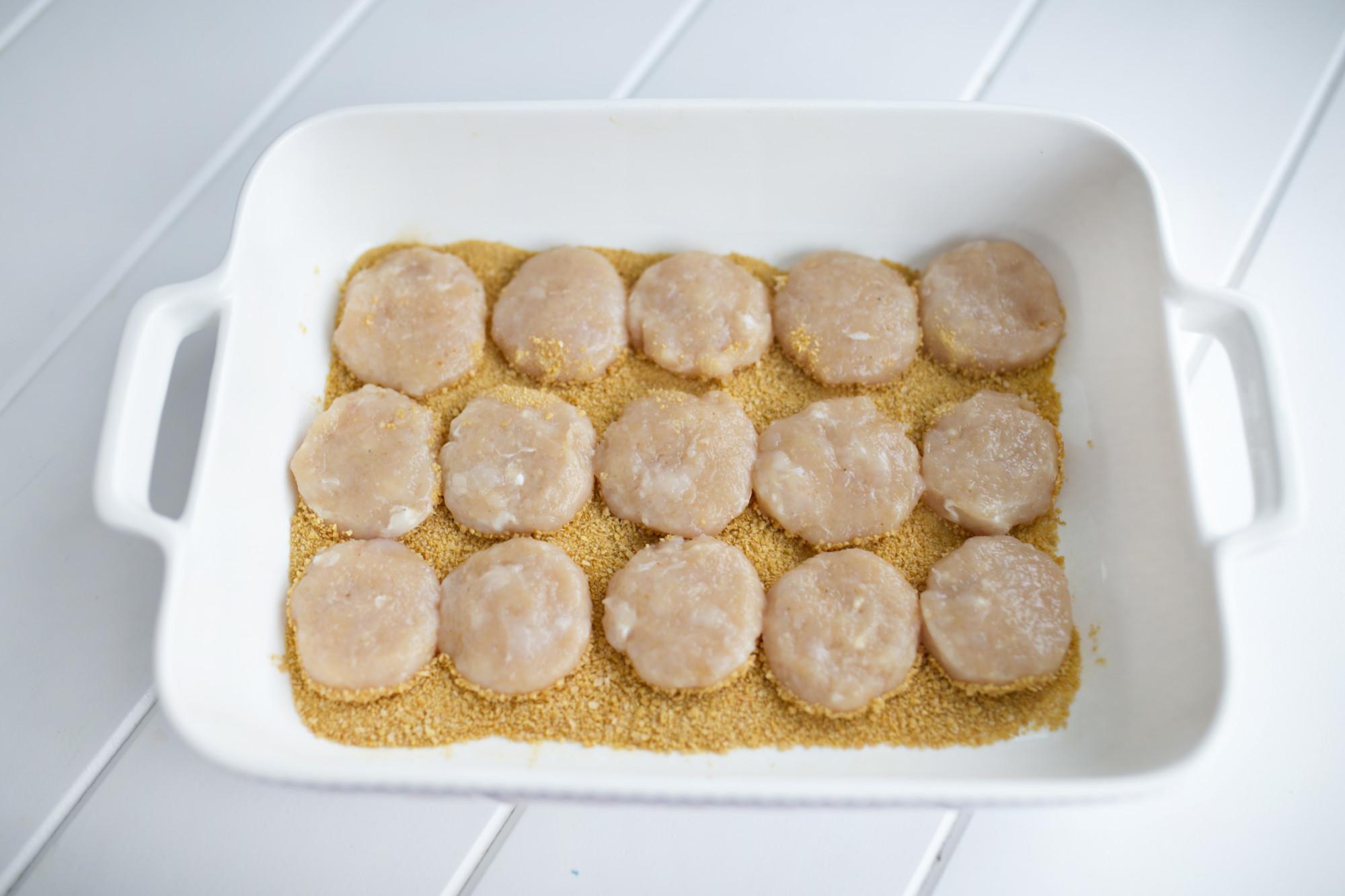 przyprawa do złotego kurczaka knorr, zdrowe chicken nuggets, zdrowe nuggetsy