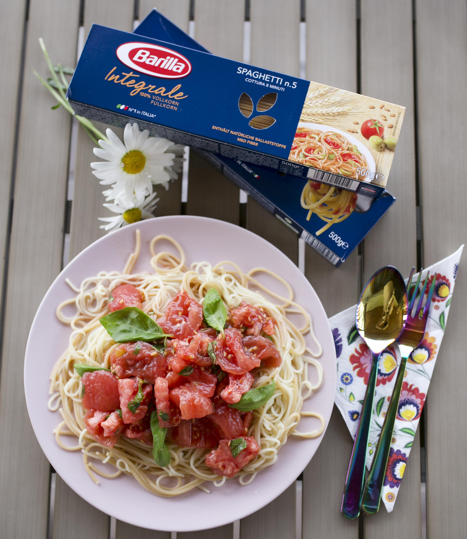 spaghetti elizabeth taylor, spaghetti z pomidorami, makaron barilla