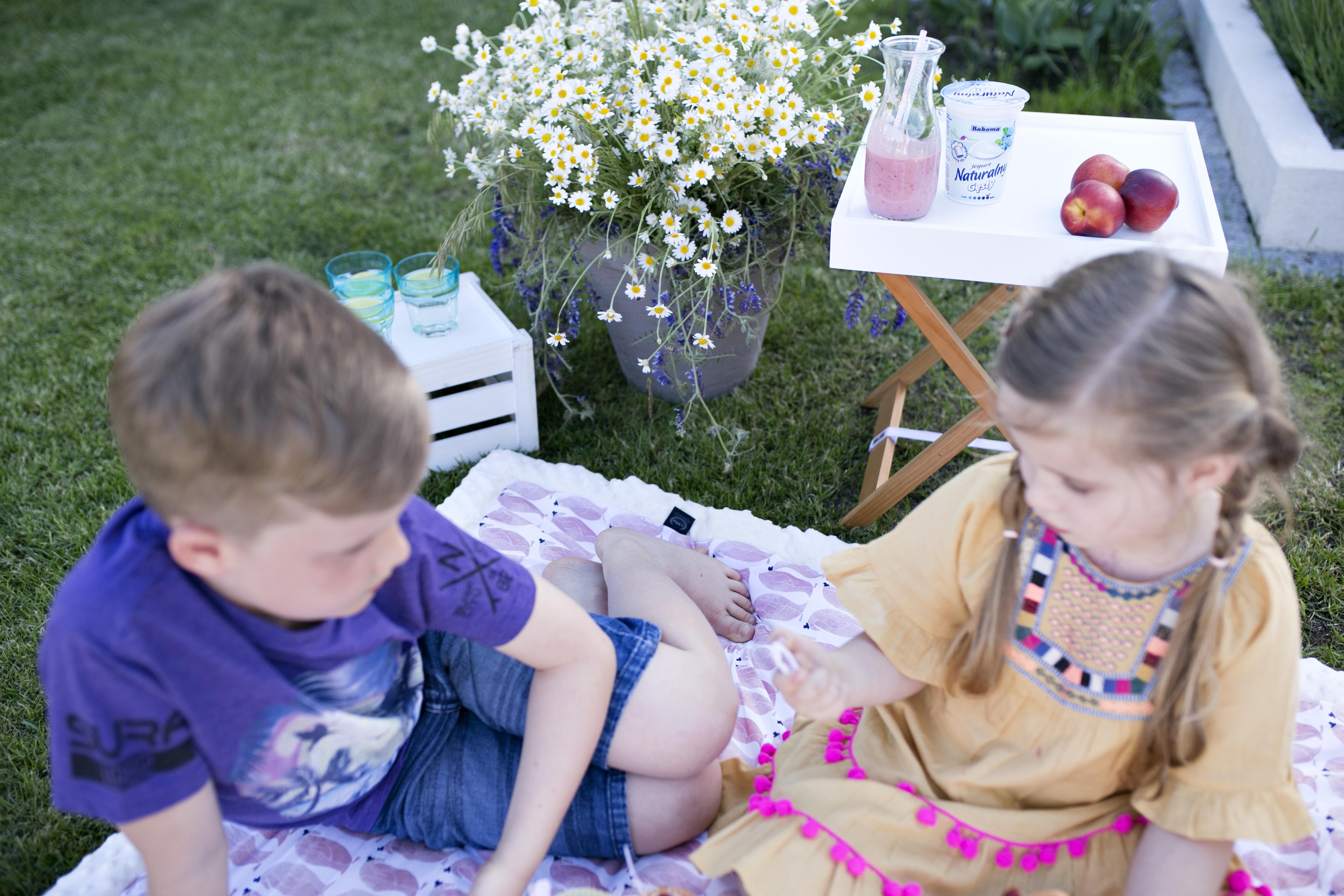 bakoma, piknik w ogrodzie