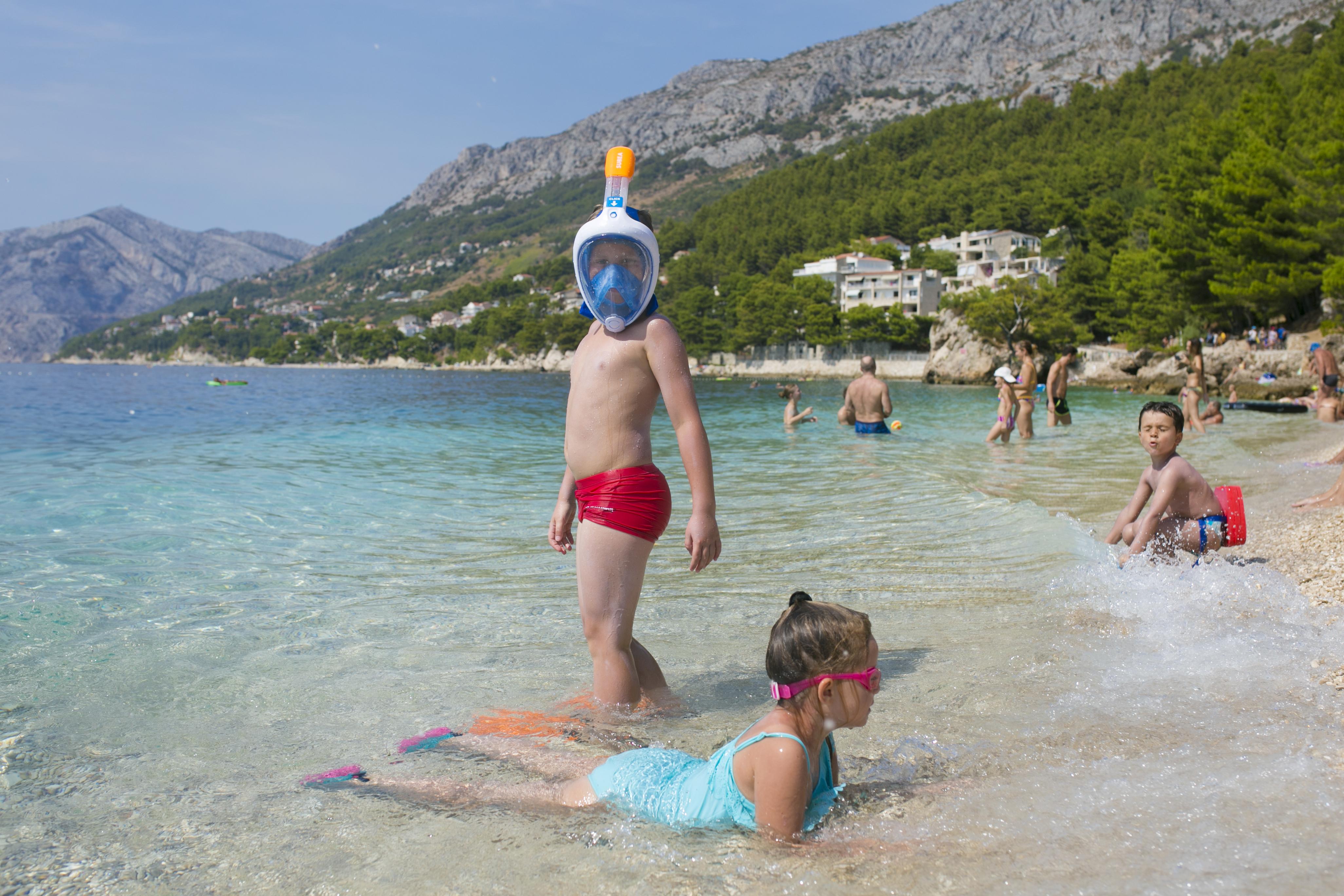 Brela, Makarska, Brela plaża, Chorwackie plaże, najpiękniejsza plaża Chorwacja