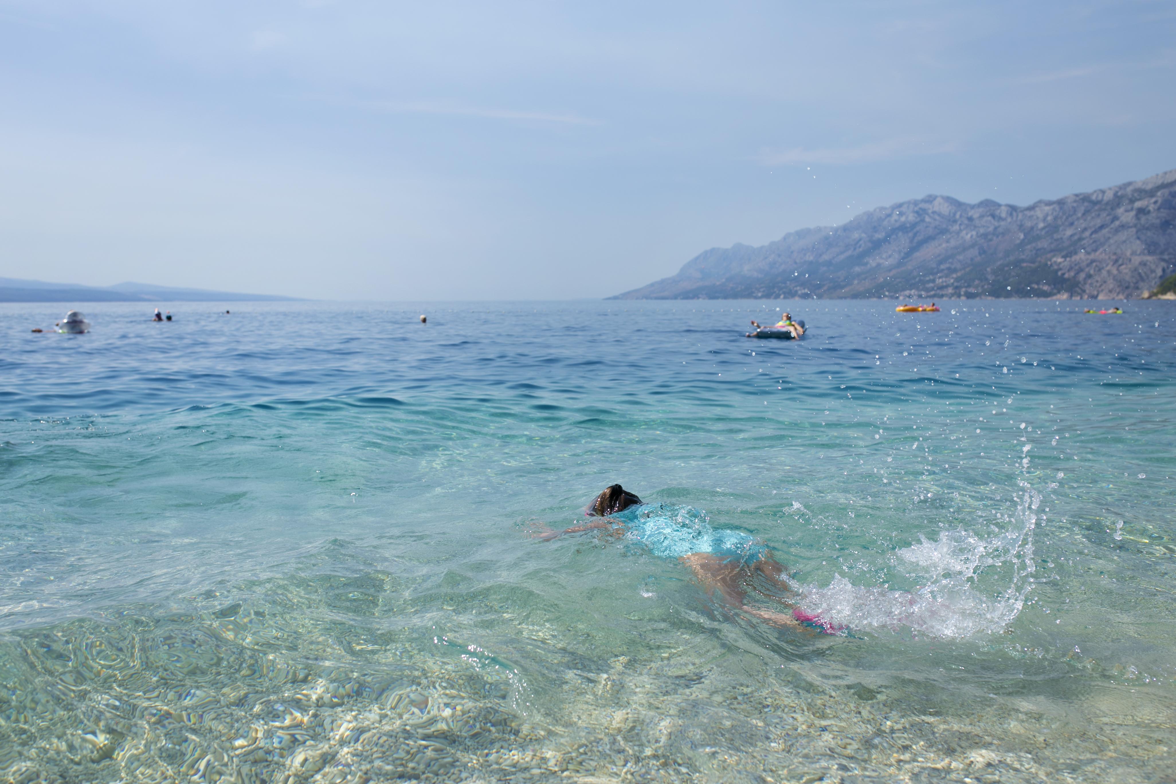 chorwacja, croatia, Brela, Brela plaża, plaża Brela, najpiękniejsza plaża Brela