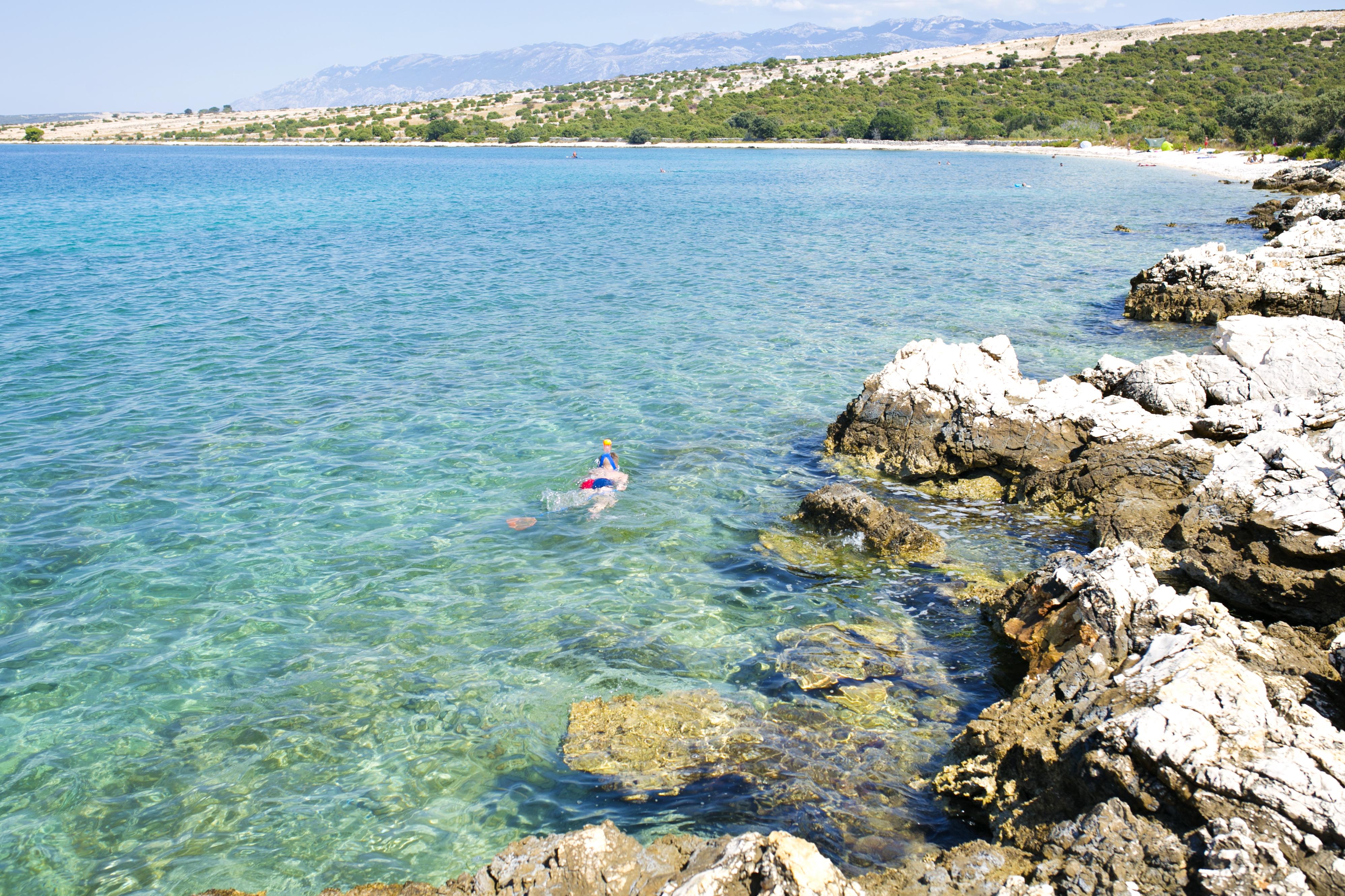chorwacja snorking, chorwacja snorkowanie, plaże snorkowanie, chorwacja nurkowanie dzieci