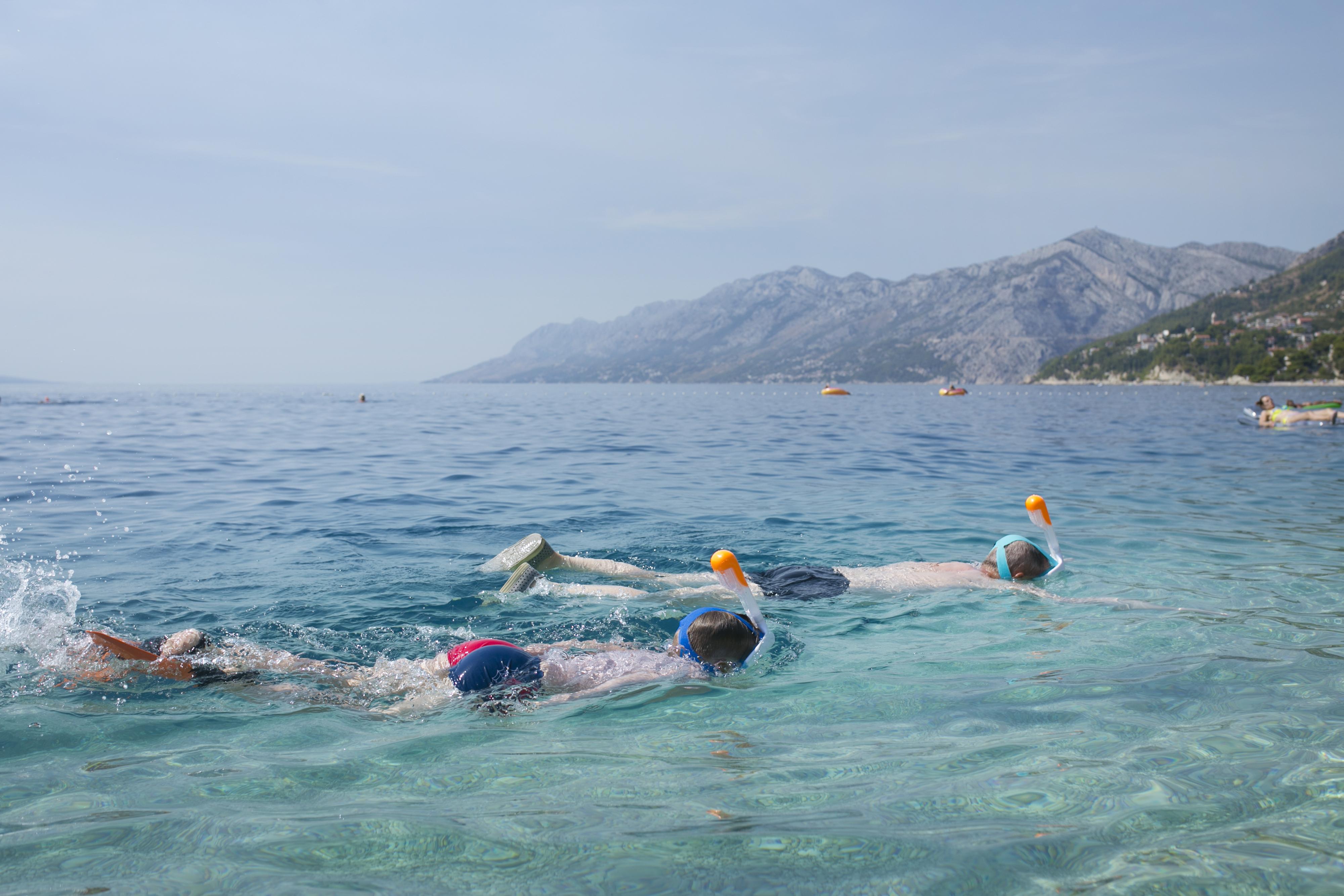 snorkowanie chorwacja, snorkowanie maska, maska decathlon