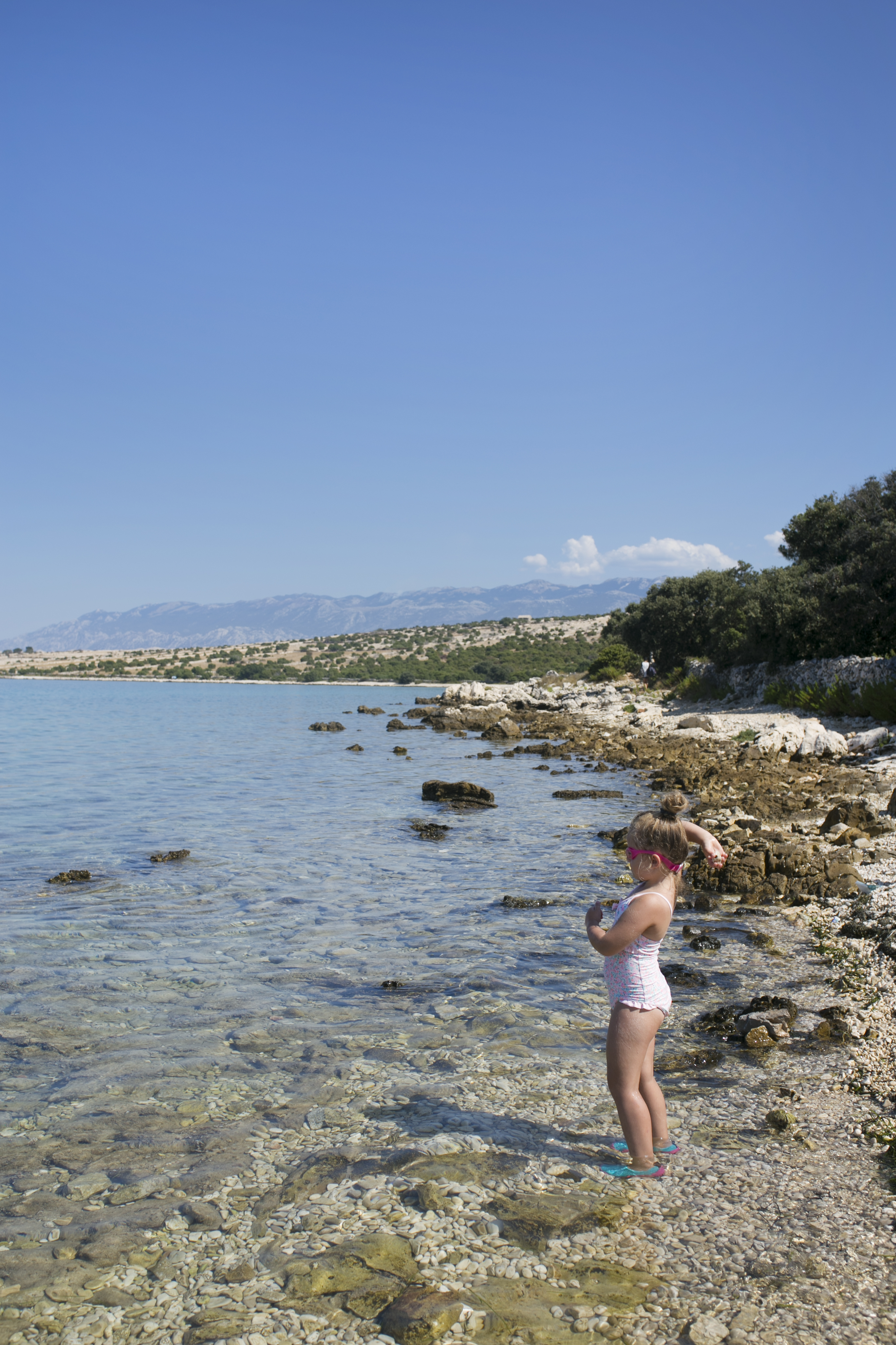 Gierenica plaża, Chorwacja plaża, Pag plaża