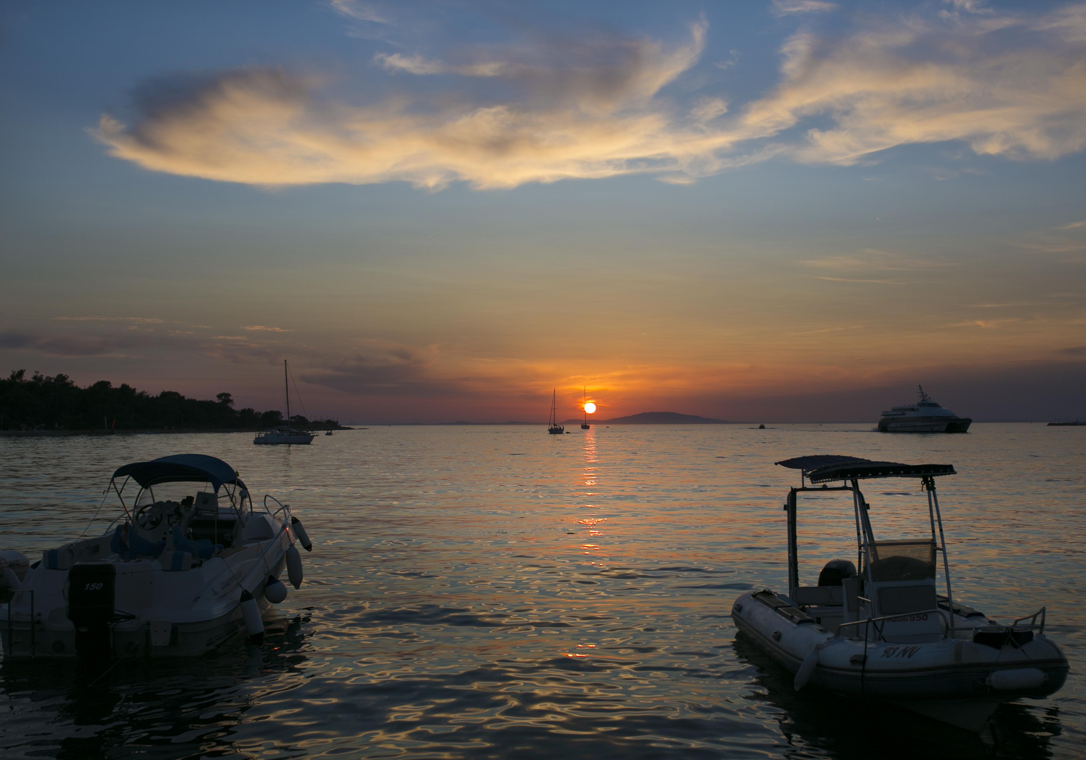 zachód słońca, zachód słońca Chorwacja, Novalja