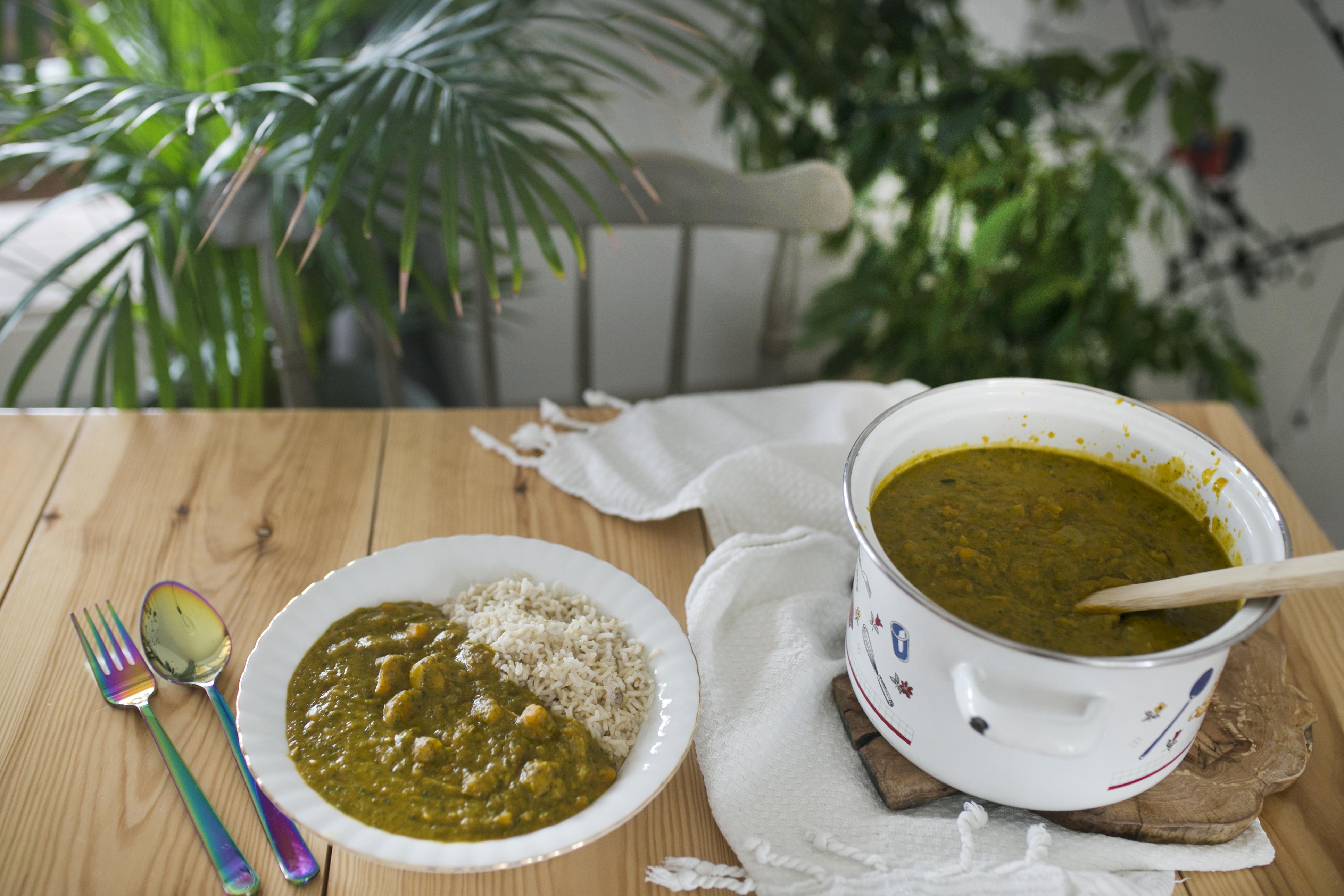 dynia przepisy, curry z dyni