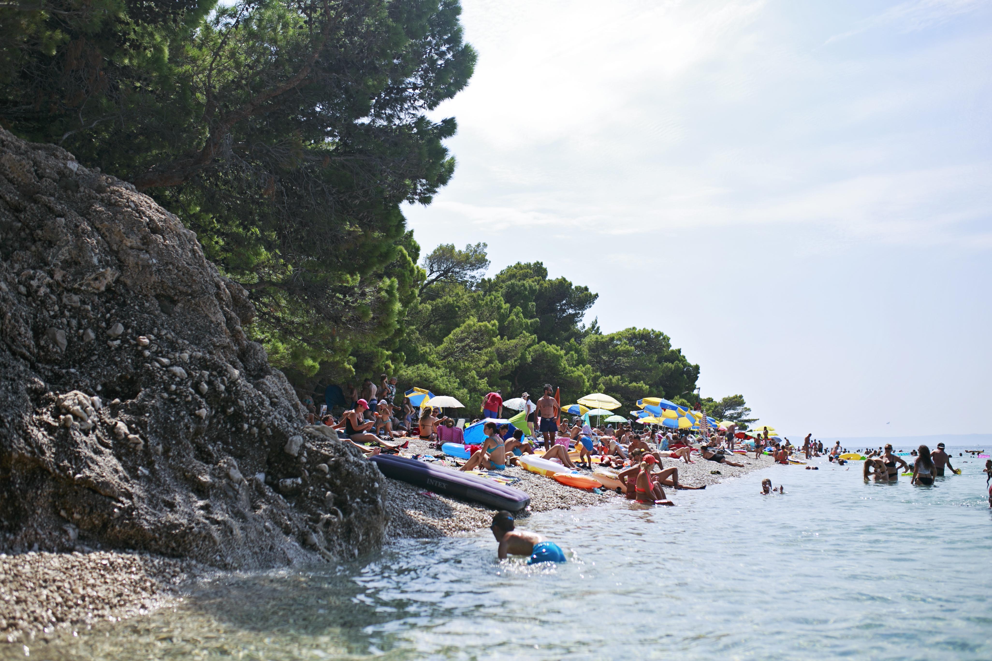 chorwacja, croatia, brela, plaża