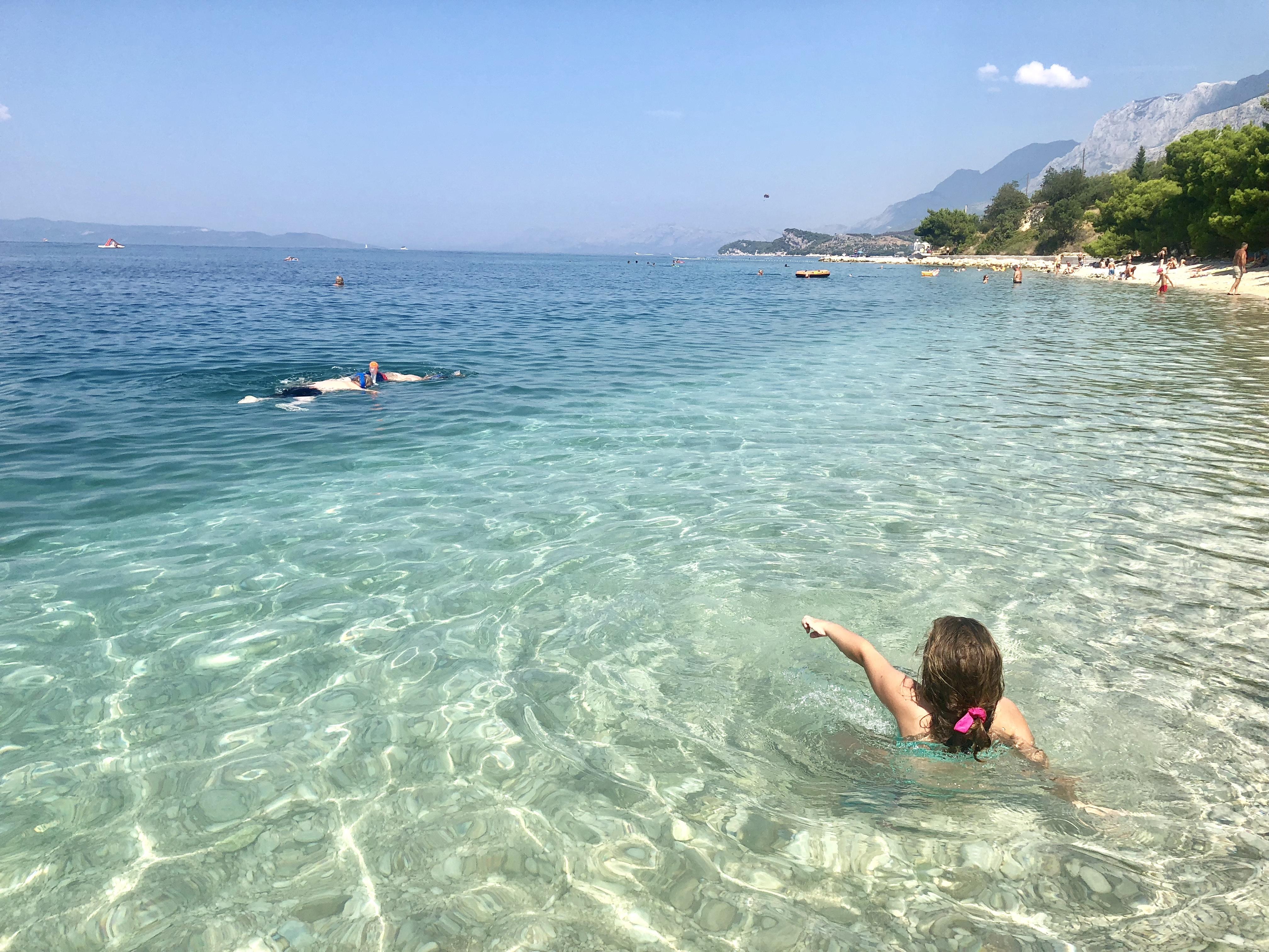 chorwacja, croatia, tucepi, plaża